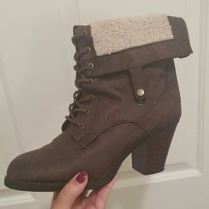 Lace up Brown Leather Ankle Boots